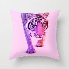 COLOR TIGER Throw Pillow