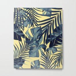 Tropical Jungle Leaves Pattern #7 #tropical #decor #art #society6 Metal Print