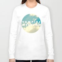 vampire weekend Long Sleeve T-shirts featuring Vampire Weekend clouds logo by Elianne