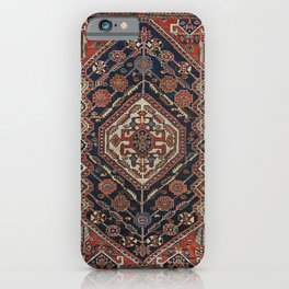 Persian Qashqai Old Century Authentic Colorful Aztec Royal Blue Red Vintage Patterns iPhone Case