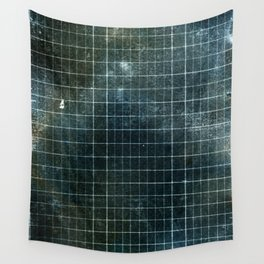 Weathered Grid Wall Tapestry