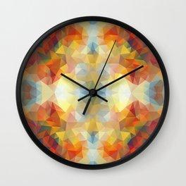 Colorful mozaic design Wall Clock