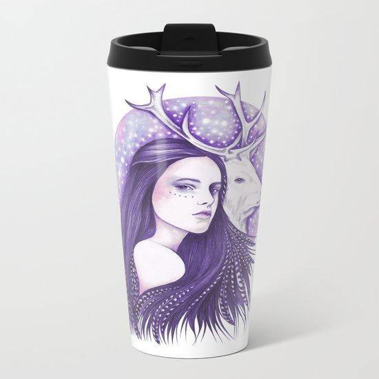 Deer Spirit Metal Travel Mug