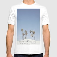 York BLVD | Highland Park | Los Angeles MEDIUM White Mens Fitted Tee