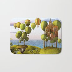 City in the Sky_Lanscape Format Bath Mat