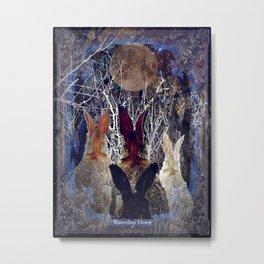 Watership Down Titled Art Print Metal Print