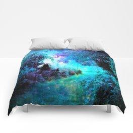 Fantasy Garden Path Turquoise Purple Comforters