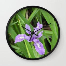 Pale Iris Wall Clock