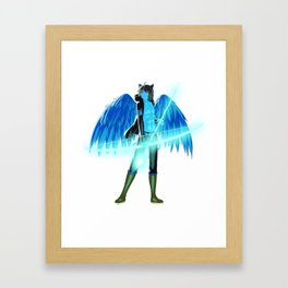 Luc Ready for Battle (No Background) Framed Art Print
