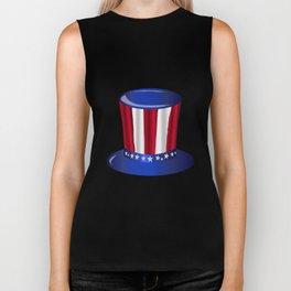 Uncle Sam Flag Hat Biker Tank