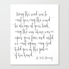 picture about Printable Irish Blessing referred to as Inspirational Quotation Irish Blessing Printable Quotation Print