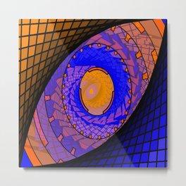 Blue and gold cosmic eye Metal Print