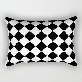 Rhombus (Black & White Pattern) Rectangular Pillow