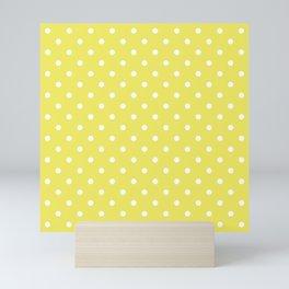 Citron Lemon-Lime and White Polka Dots Mini Art Print