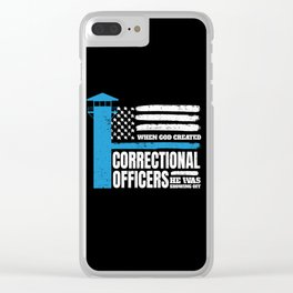 Correctional Officers American Christian Clear iPhone Case