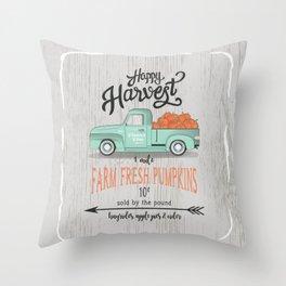 Happy Harvest Throw Pillow
