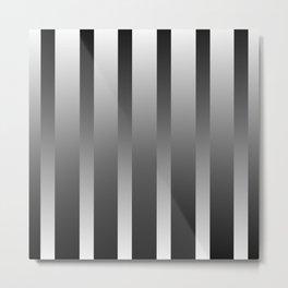 Chrome Stripes Metal Print