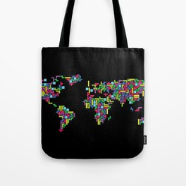 Tetris world (black one) Tote Bag