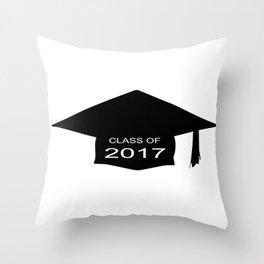 Class of 2017 Cap Throw Pillow