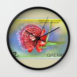 Passiflora Quadrangularis Wall Clock