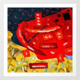hearts capsize Art Print