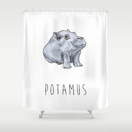 Potamus Shower Curtain