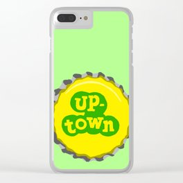 Up-town bottle cap lefty Clear iPhone Case