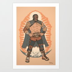 Lucha De Guadalupe Art Print