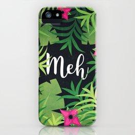 Meh Jungle Print iPhone Case