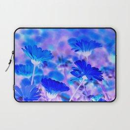 Blue Marigold Gypsy Boho Fantasy Garden Laptop Sleeve