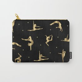 Black and Gold Gymnastics Carry-All Pouch