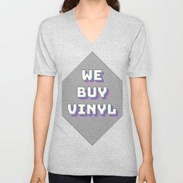 We Buy Vinyl Unisex V-Neck