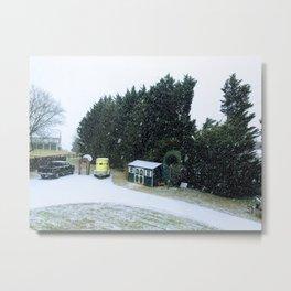 Snowstorm in the winter Metal Print