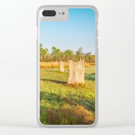 Magnetic termite Mounds in Litchfield National Park Clear iPhone Case