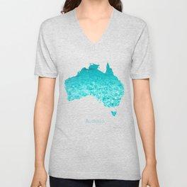 Australia Map  Unisex V-Neck