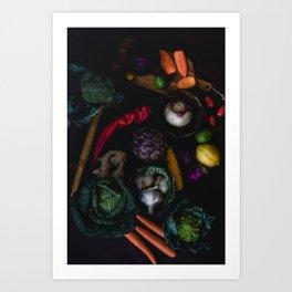 Artichoke Mix Art Print