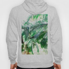 The wild shadow tropical palm tree green bright photography Hoody