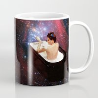 bath Mugs featuring Bubble Bath by Eugenia Loli