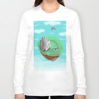 castle in the sky Long Sleeve T-shirts featuring Sky Castle by wkdowd