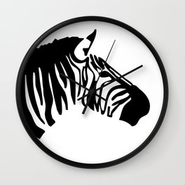 Black Zebra Wall Clock