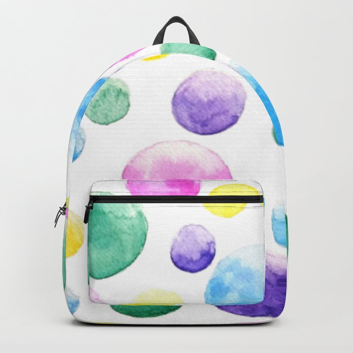cheerful colorful bubbles Backpack