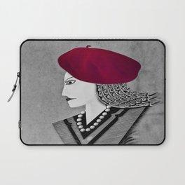Raspberry Beret Laptop Sleeve