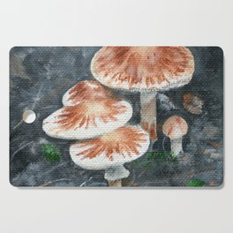 Family of mushrooms by Teresa Thompson Cutting Board