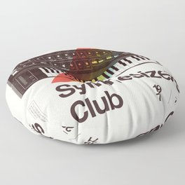 Synthesizers Club Floor Pillow