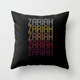 Zariah Name Gift Personalized First Name Throw Pillow