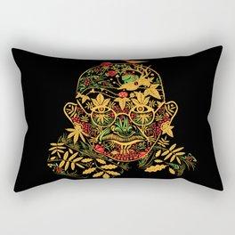 Gandhi Psychedelic Khokhloma Rectangular Pillow