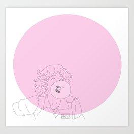 Frenchy Bubblegum Art Print