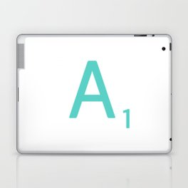 Blue Scrabble Letter A Laptop & iPad Skin