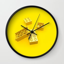 Duplo Yellow Wall Clock