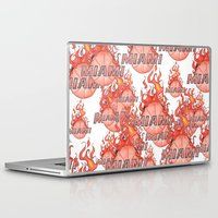 nba Laptop & iPad Skins featuring HEAT HAND-DRAWING DESIGN by SUNNY Design